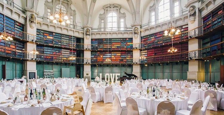 Salón para la celebración de bodas de la Biblioteca de la Queen Mary Universidad de Londres