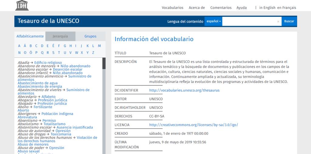 Tesauro de la UNESCO