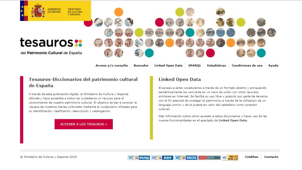 Dicionários de sinônimos e sinônimos do patrimônio cultural da Espanha