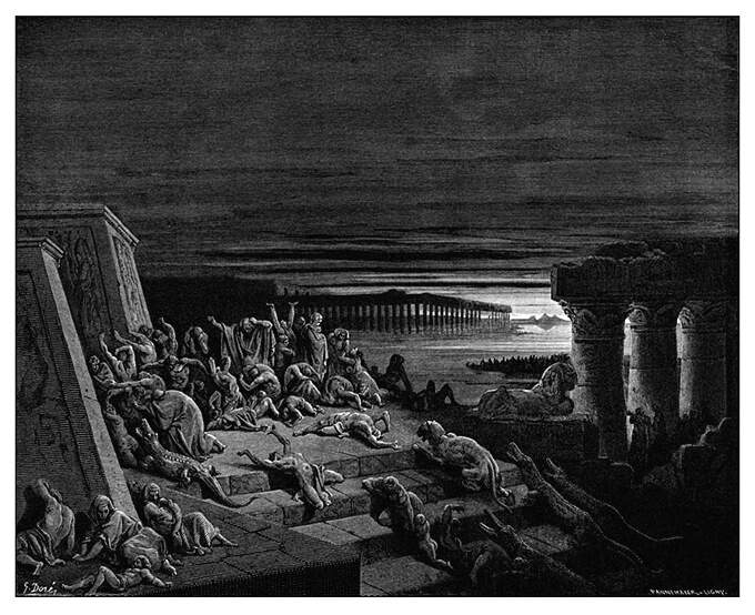 The Plague of Darkness - Gustave Doré