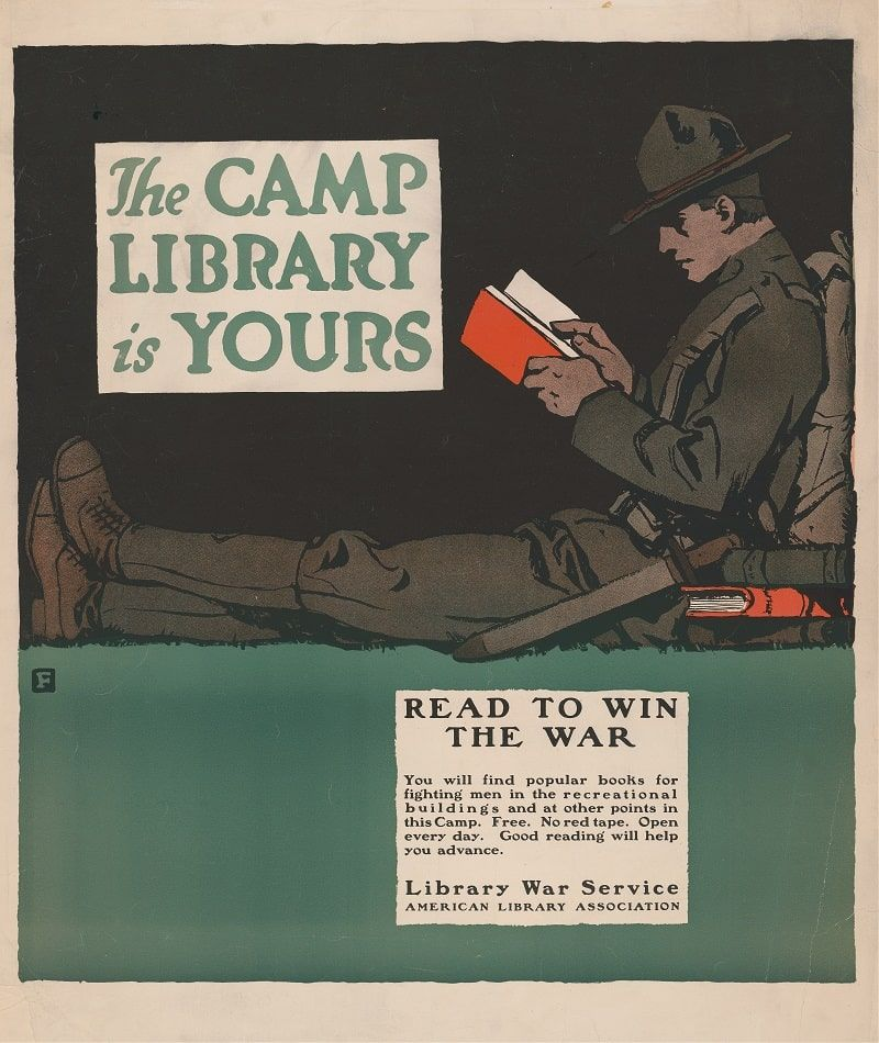 The camp library is yours (1917)