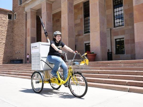 University Libraries rolls out bike cart: InfoMotion