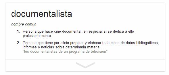 Documentalista para Google