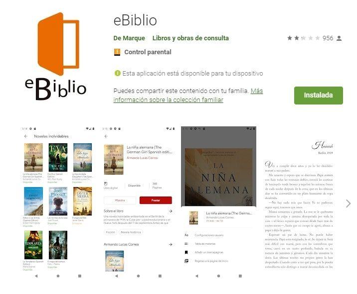 eBiblio aplicaciones lectura