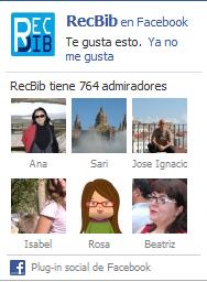 Widget facebook RecBib