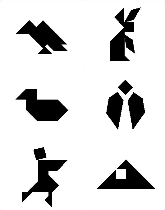 Trust image with tangrams printable pdf
