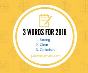 3 Words for 2016