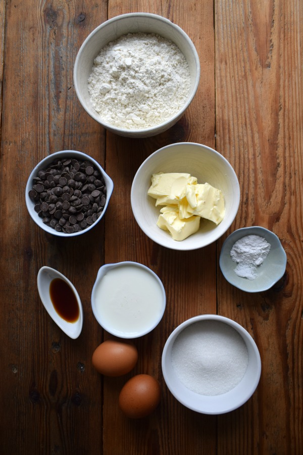 Ingredients for the Chocolate Chip Loaf Cake