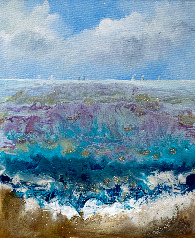 seascape painting 10in x