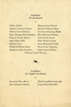Commencement Program, 1932