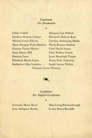 Commencement Program, 1932