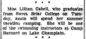 """Miss Lillian Cabell...,"" Richmond Times-Dispatch, June 7, 1936"
