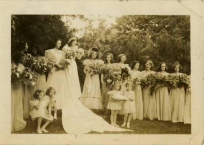 May Queen Virginia McGuire and Her Court, 1938