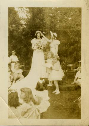 May Queen Virginia McGuire and Attendant Ann Sloan, 1938