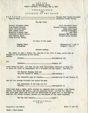 May Day Program, 1955