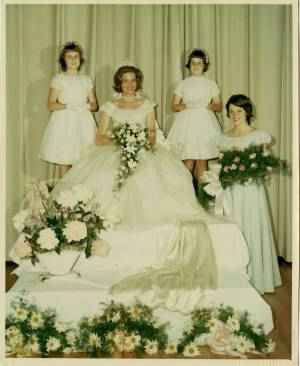 May Queen Ann Hunter Larus and Her Court, 1962