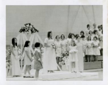 May Queen Ruthie Norfleet and Her Court, 1968
