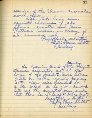 Book Of Secretary, Collegiate School Alumnae Association, 1924-1940
