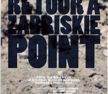 Zabriskie point, edito