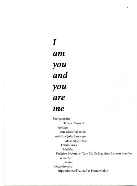 I am you, edito