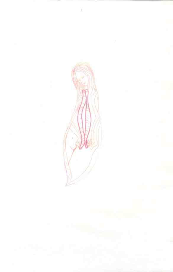 Dessin Vagine N° 10 Exposition les Vulnérables Julie Barranger