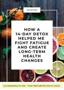detox cleanse prediabetes fatigue