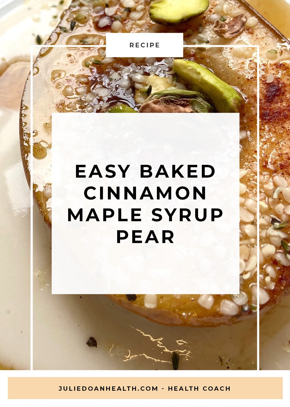 baked pear maple syrup