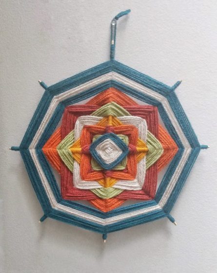 yarn mandalas diy craft project kids