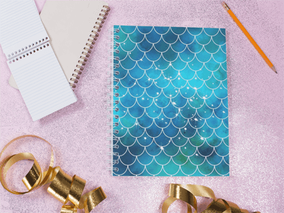 school supplies stationary mermaid design