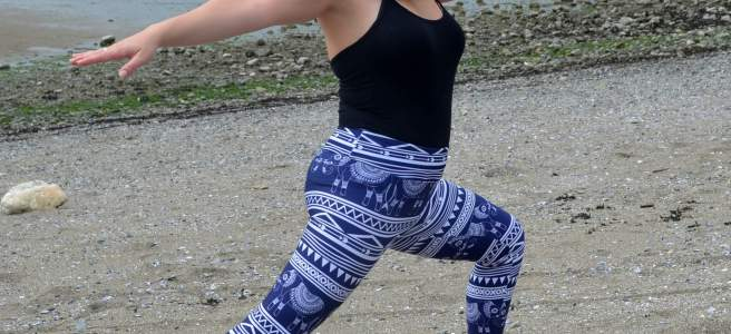 yoga leggings society6 elephant design