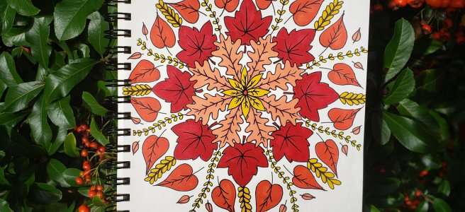 #mandalatober2019 autumn fall mandala drawing