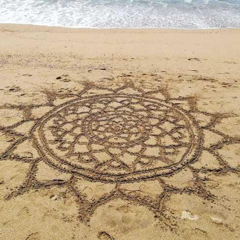 beach mandalas art sand ocean