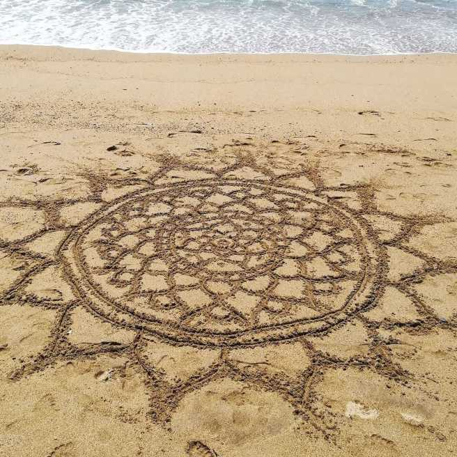 beach mandalas art sand ocean puerto vallarta