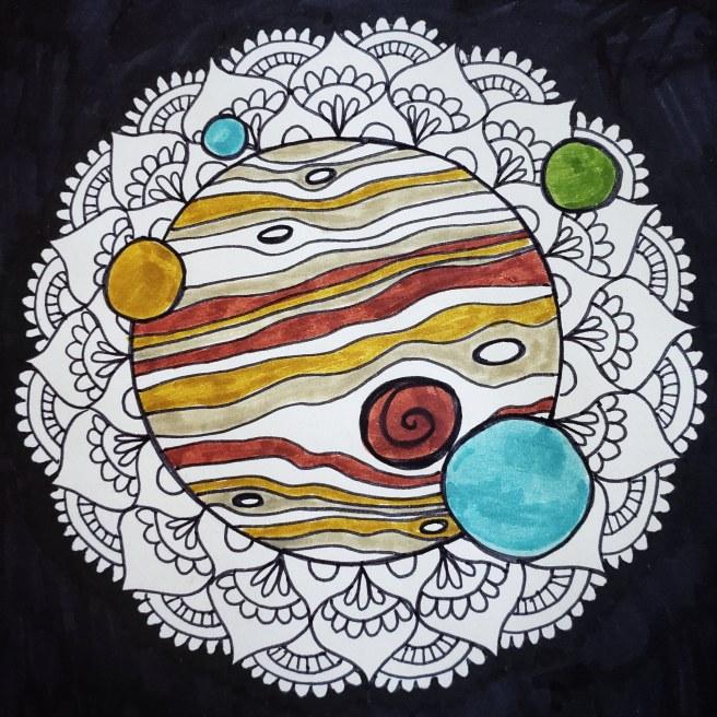 jupiter space galaxy mandala
