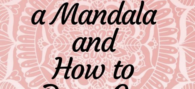 pink mandala how to draw mandalas