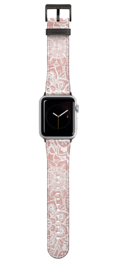 pink floral mandala pattern apple iwatch band