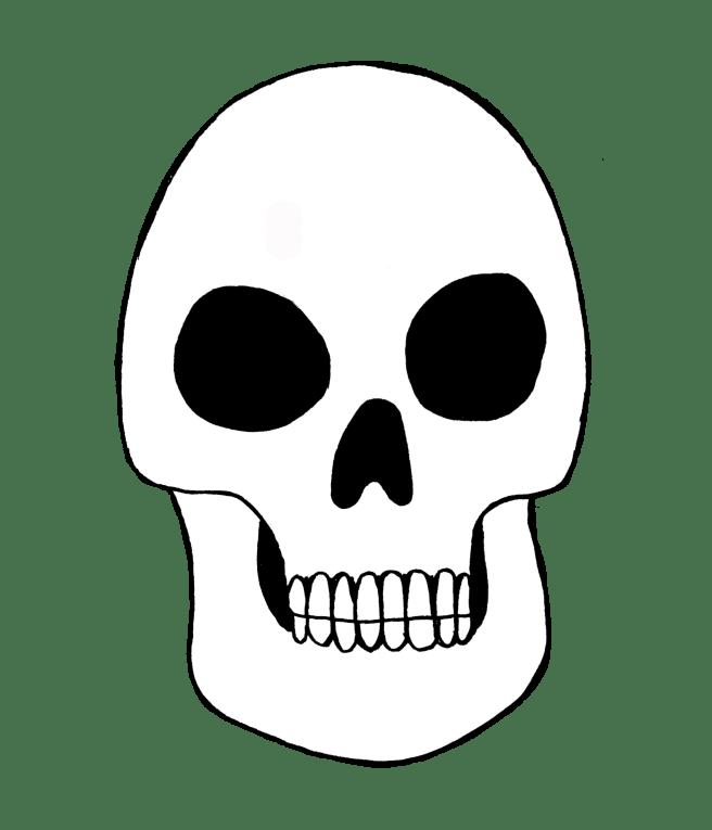 free blank skull printable