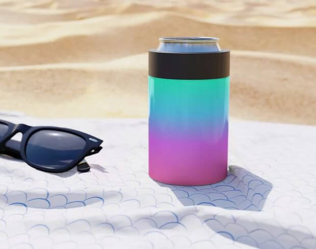 rainbow can cooler koozie drink holder