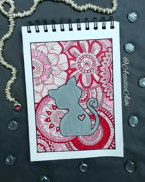 cat mandala by artistic_ashi