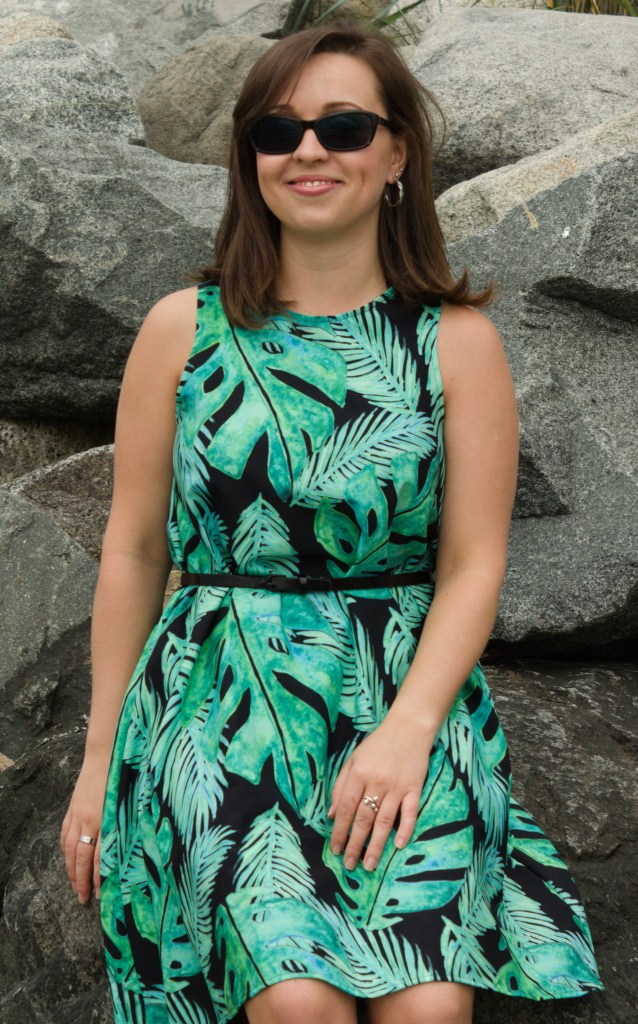 tropical monstera pattern redbubble a-line dress review