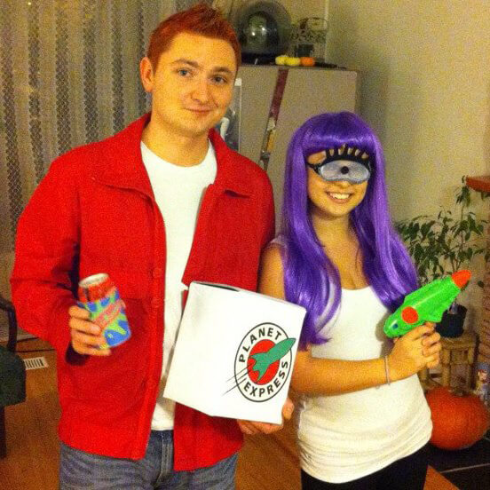 fry and leela couples halloween costume futurama