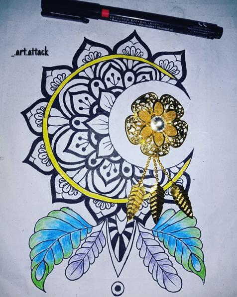 1/2 mandala for mandalatober round up by _art.attack on instagram