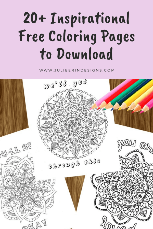 20 inspirational free coloring pages