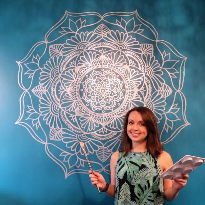 painting a mandala on my wall