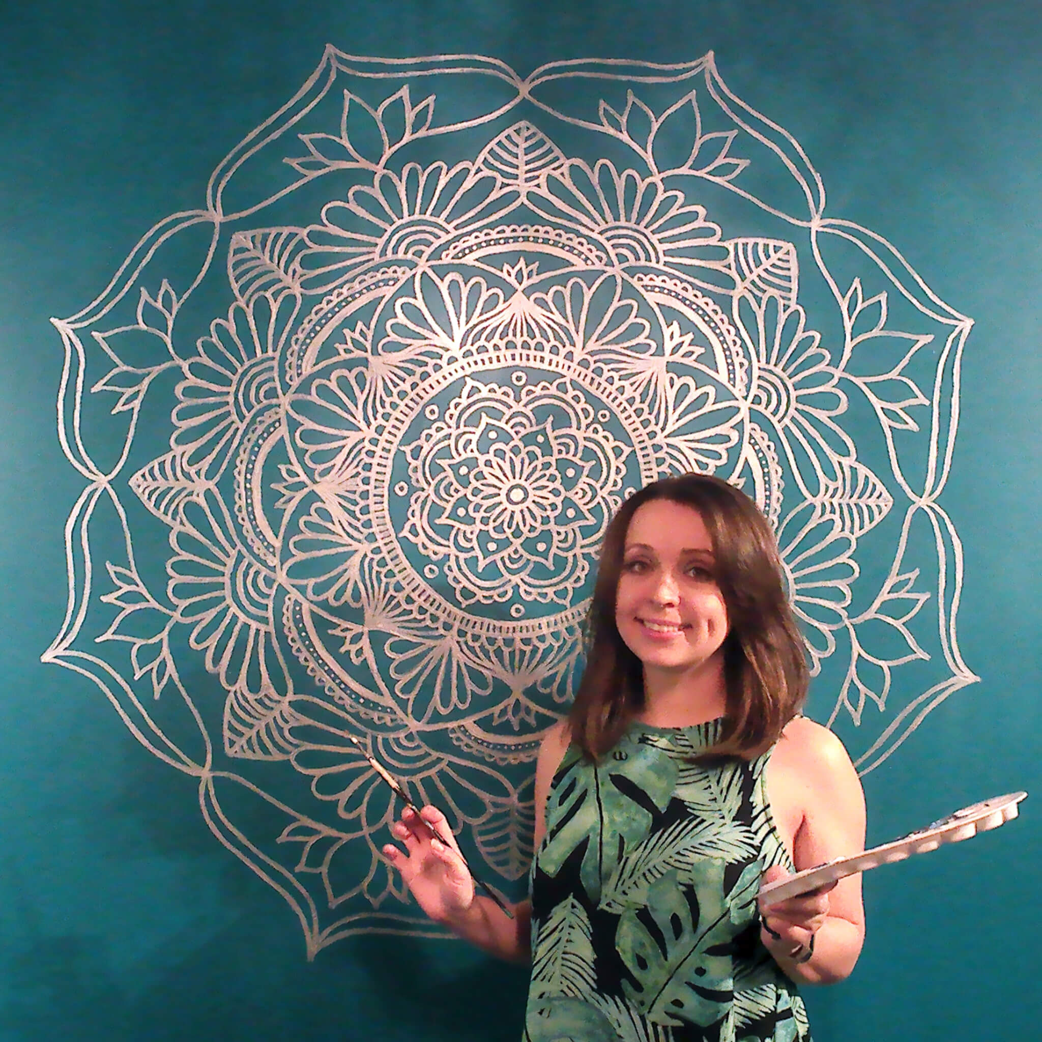 Painting A Mandala On My Wall Julie Erin Designs