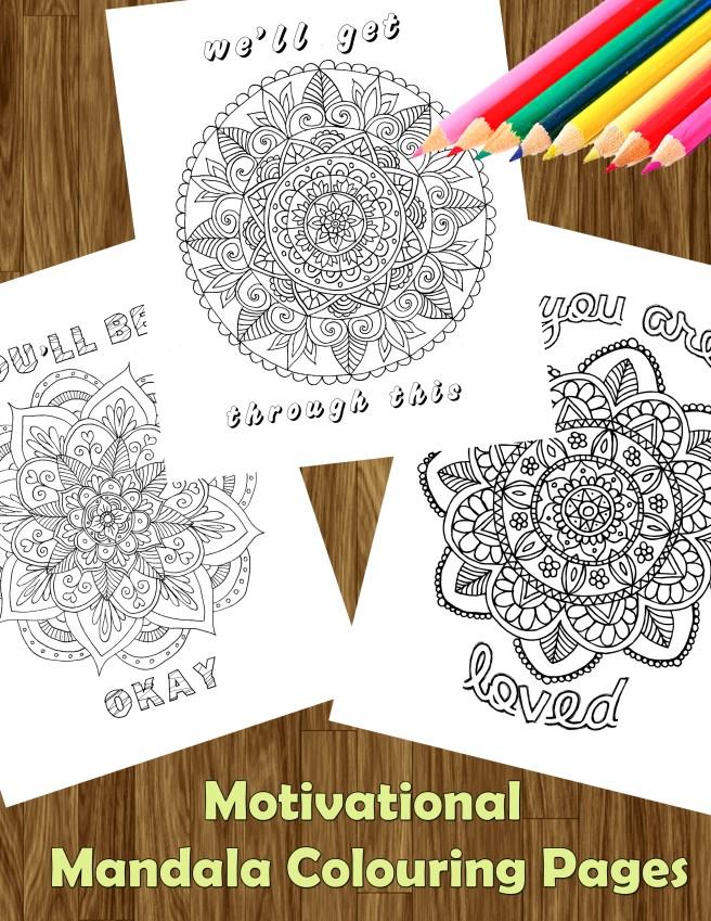 motivational mandala coloring pages