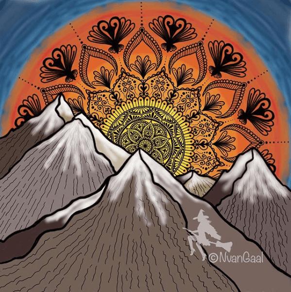 mountain mandala by natas.creative mandalatober2019
