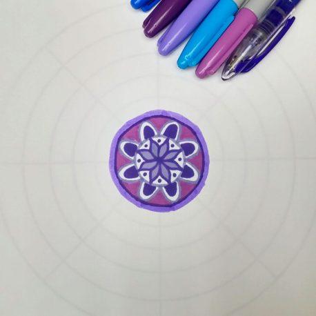 mandala drawing template
