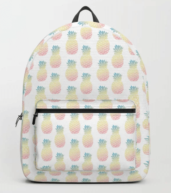 pastel pineapple offset pattern backpack