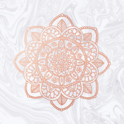 rose gold mandala on white marble amazon popsocket